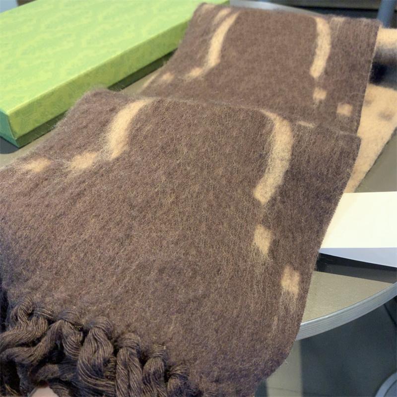 New Wool Blended Scarf G Designers Scarf Shawl Womens Warm Scarfs Écharpes Fashion Wrap Shawls Schal Bufanda Women Pashmina Size 15*220CM