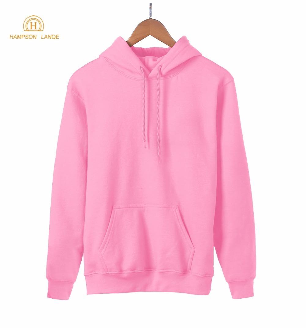 2019 Hot Sale Spring Kawaii Blank Women Sweatshirt Kpop Solid Hoodies Warm Fleece Harajuku Hooded Black White Gray Pink Red Blue