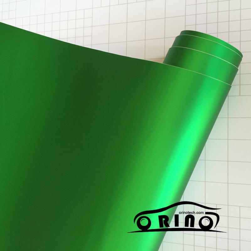 Chrome Metallic Apple Green Vinyl Wrap-1