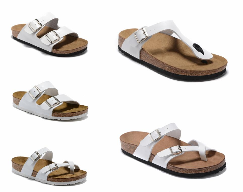 Mayari Arizona Gizeh 2021 summer Men Women flats sandals Cork slippers unisex Clogs shoes classic colors Fashion Flats 34-46