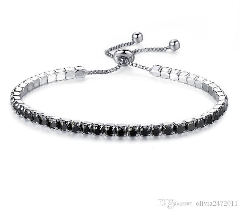 Wedding Crystal Adjustable Link Chain Bracelets & Bangles For Women zirconia White Gold color Romantic Charm Bracelets Jewelry