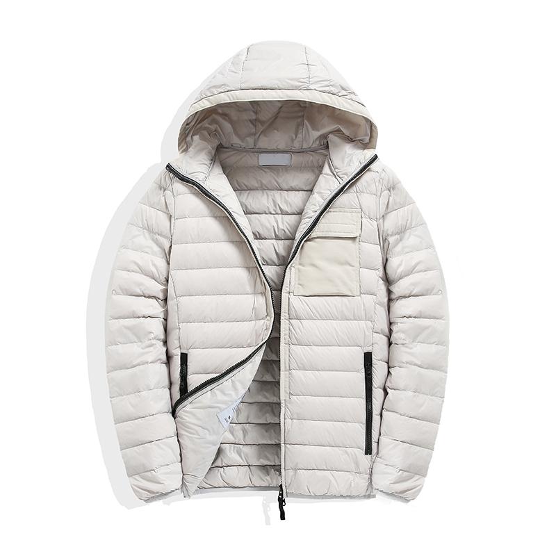 topstoney 2020 Mens Jackets windbreaker Warm Hooded Casual Fashion Winter Jacket Down Jacket Thin hooded down jacket