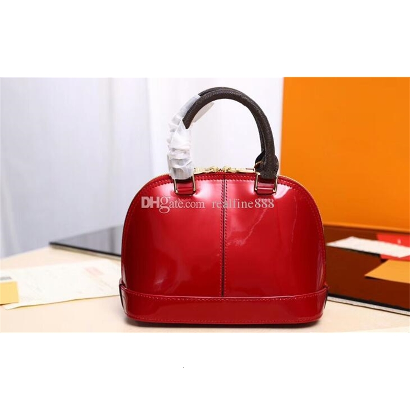 3A Quality M54395 Alma PM Patent Leather Top Handles Shoulder strap Tote Handbags,with Dust Bag,