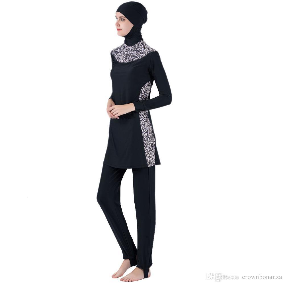 Fully Covered Modest Muslim Swimwear Women's Islamic Swimsuit hijab Burkinis musulman Beach swimming Plus Size