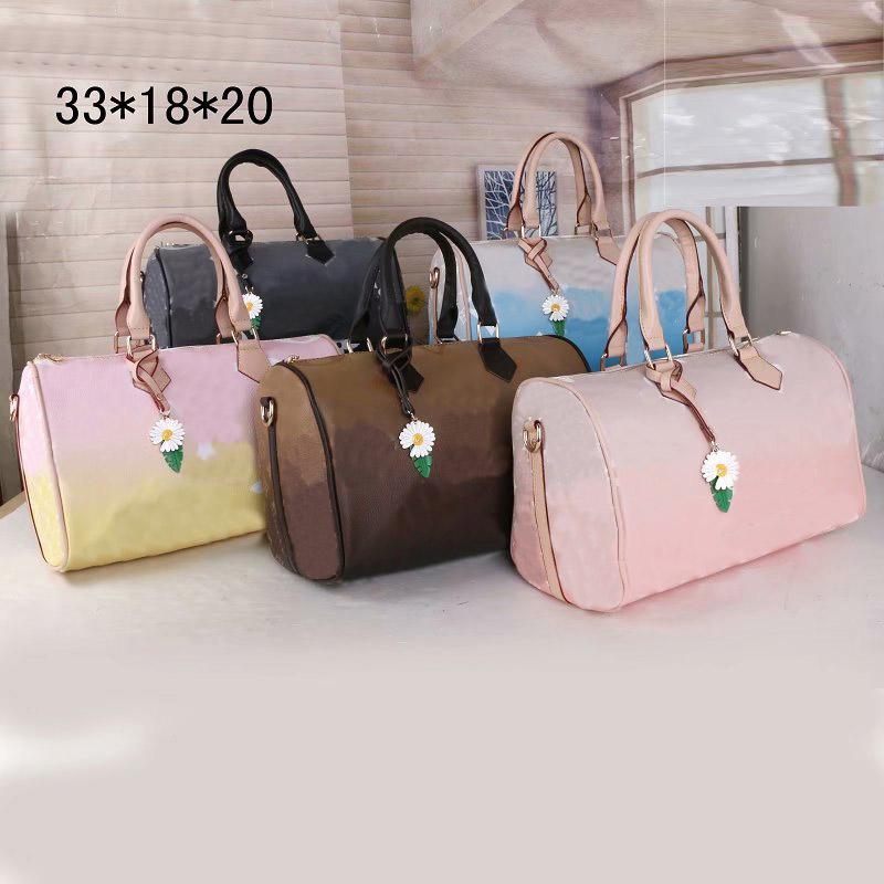Ladies Messenger Bag Classic Style Fashion Flags Ladies BagS Shoulder Bag Lady Totes Handbag Speedy 33.18.20CM With Shoulder Strap, Dust Bag