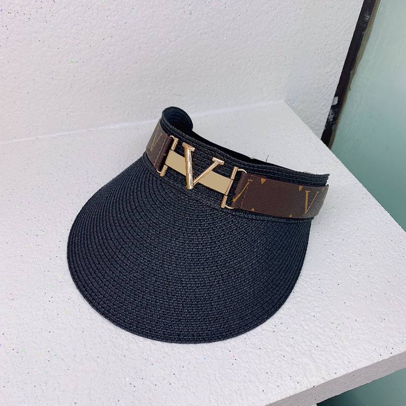 Fashion Sun Hat Designer Cap Women Men Casquette Visor Top Empty Caps Hats Mens Bucket Hat Hut Summer Faashion Chapeau D217104F