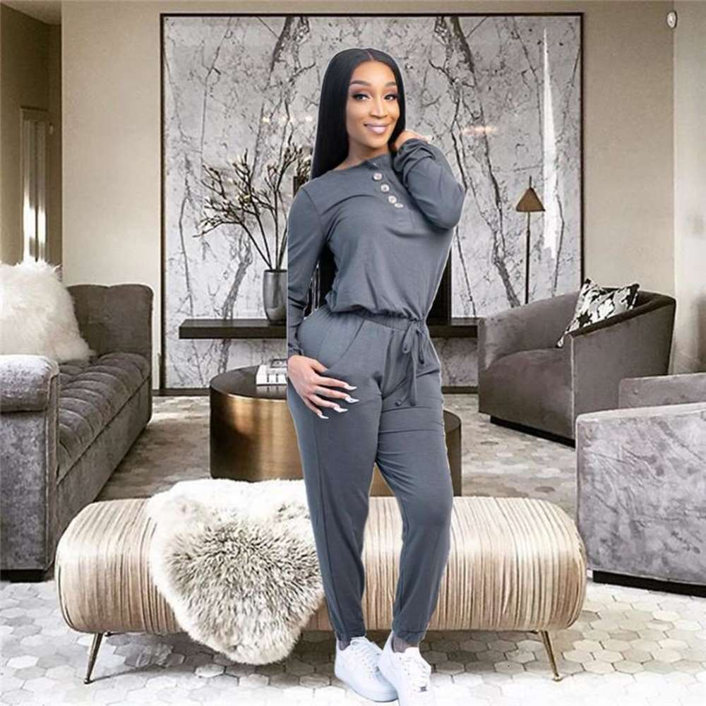 fall winter Women fashion bodysuit 2XL sexy jumpsuit bandage elegant long sleeve plain leggings solid color Rompers casual clothing 4308