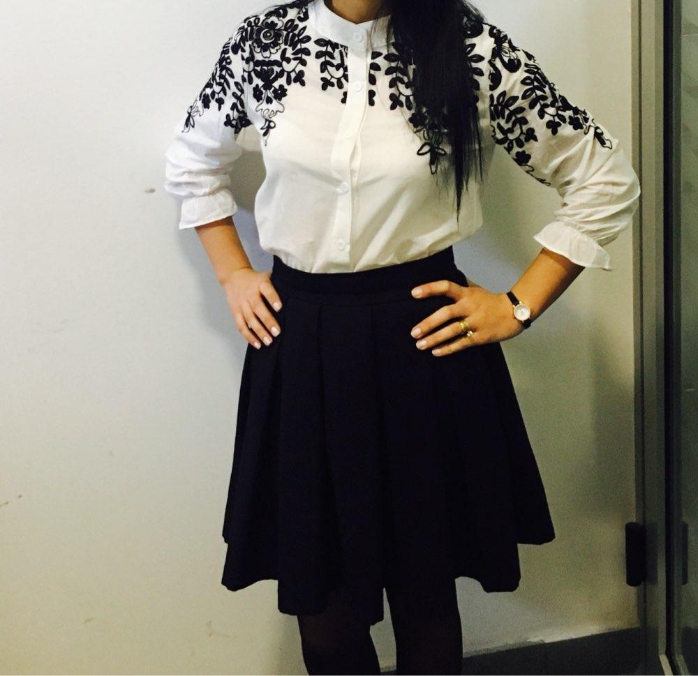 2015-Women-Elastic-High-Waist-Knee-Length-Blend-Skirts-Ladies-Pleated-Skirts-Retro-City-Printed-Skirt