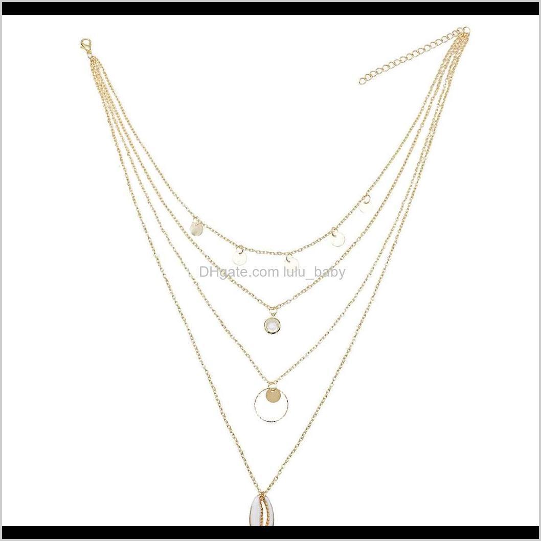 golden necklace tassel long fashion simple elegant wedding jewelry