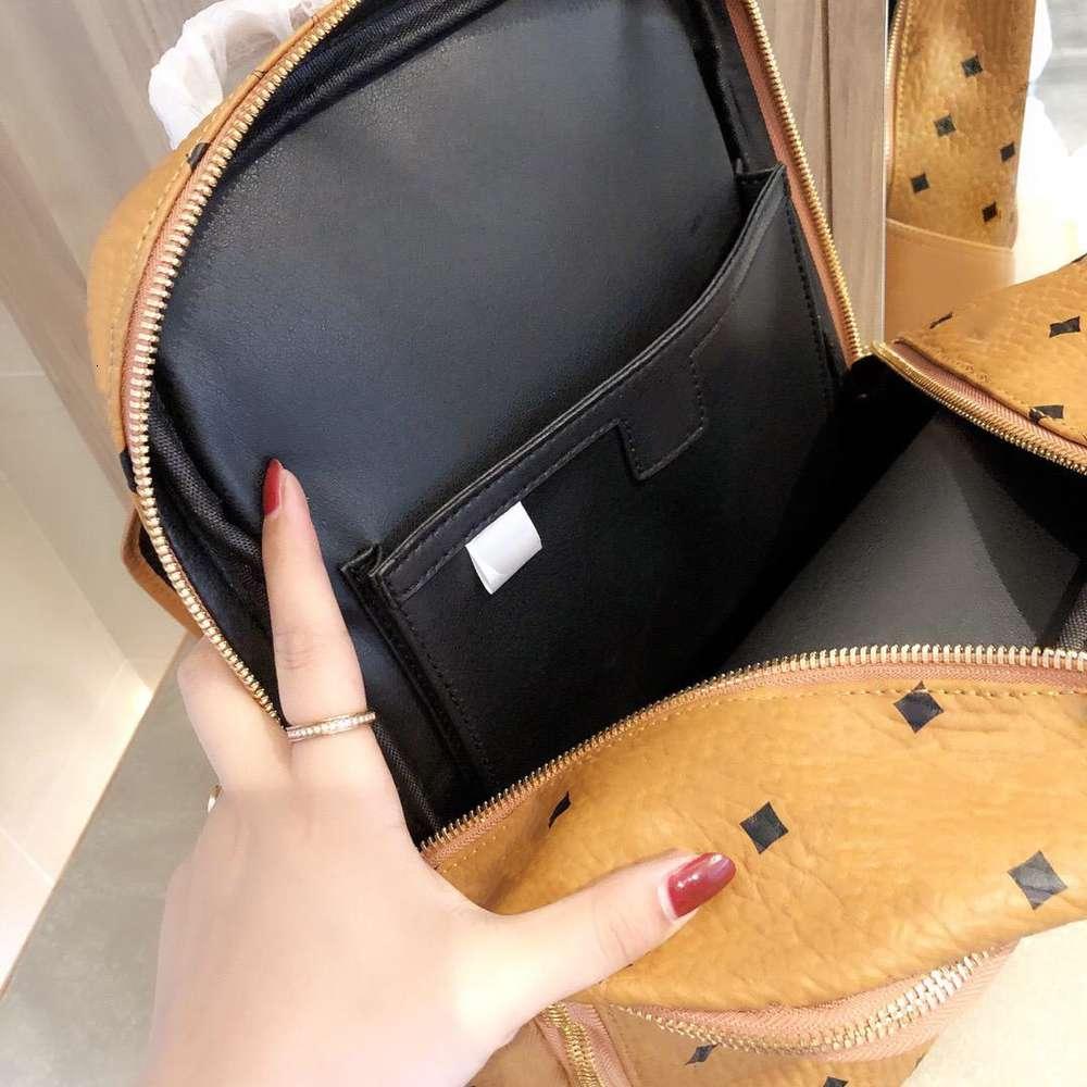 Large capacity backpack female 2020 new tide of fashion joker ms leisure temperament classic satchel bag