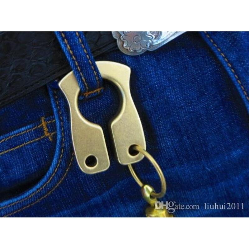 Brand New Copper Brass Keychain Knuckles Fist Fighting Equipment Biker Power Outdoor Self-defense Supplies Copper Pendant EDC