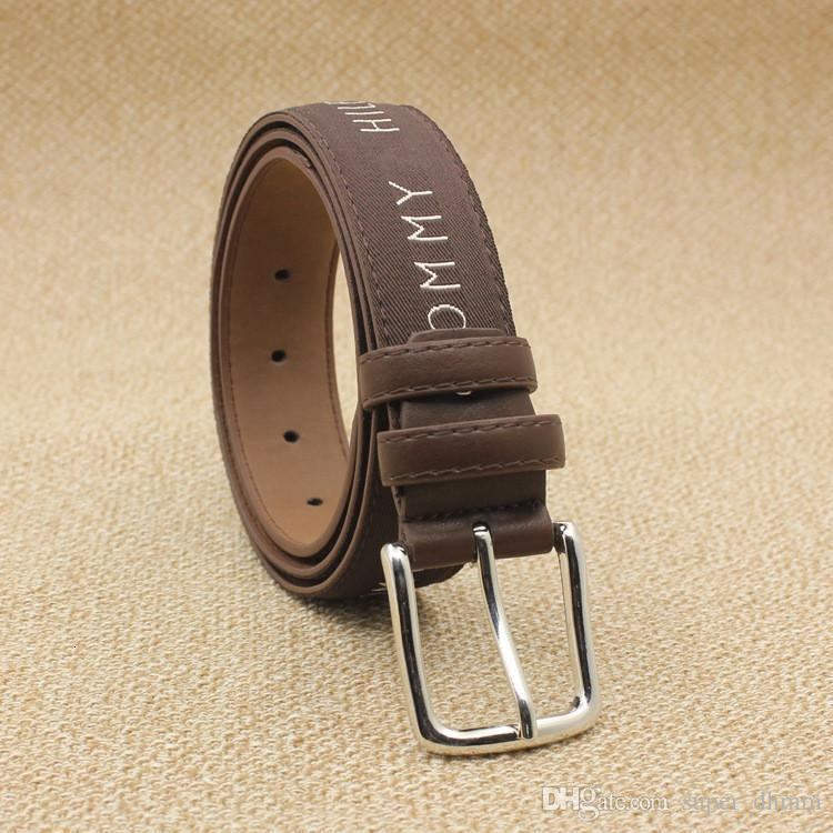2019 Fashion Designer Mens Flag Belt Luxury Style Leather Fall Belts for Women Metal Pin Buckle Man Jeans Pants Genuine Leather Male Strap