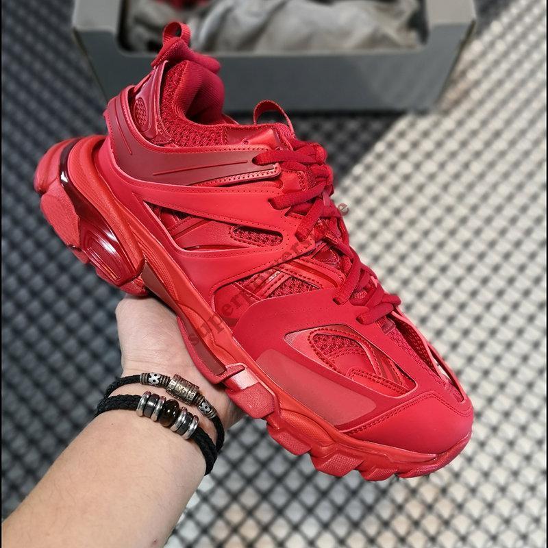 High quality triple s 3.0 paris platform mens casual shoes black white yellow pink glow in the dark men women sneakers