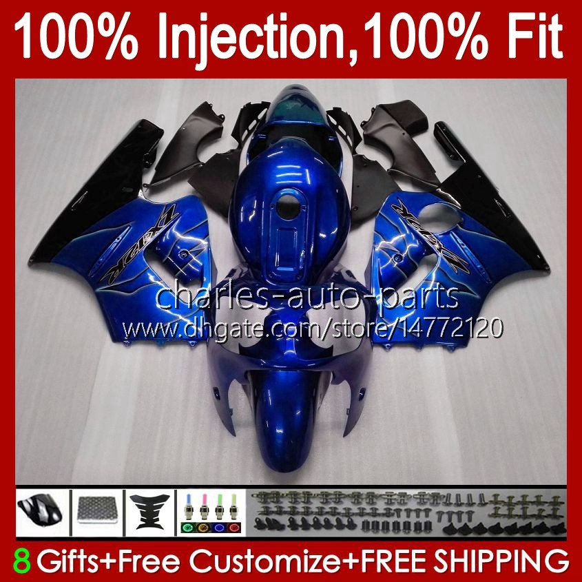 Injection OEM Body For KAWASAKI NINJA ZX 1200 CC 12 R ZX1200C ZX12R 00 01 Bodywork 2No.41 ZX 1200 12R 1200CC ZX-12R 2000 2001 ZX1200 C 00-01 100%Fit Fairing Metallic Blue