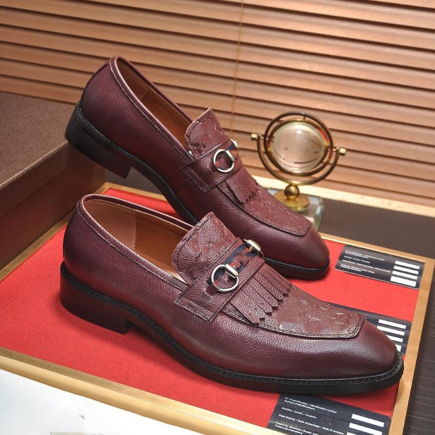 39 Model Man Cow Leather Shoes Rubber Sole Size 45 Man Office Business designer Dress Leather Flats Man Split Leather Wedding Shoes
