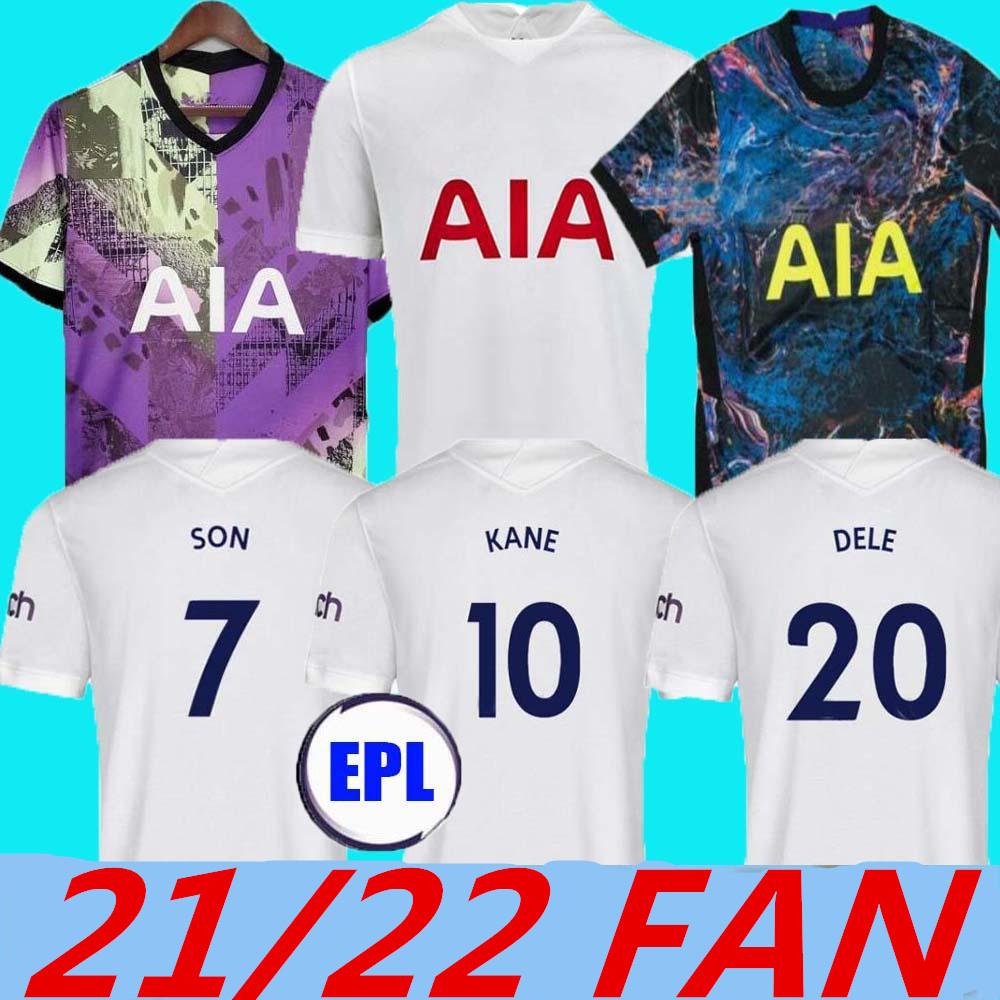 21 22 Kane Son Bale Bergwijn Tottenham Dele Jerseys 2021 2022 Lucas Dele Kit Soccer Kit Bale Ndombele Tops Tops Boys Sets Uniforms with