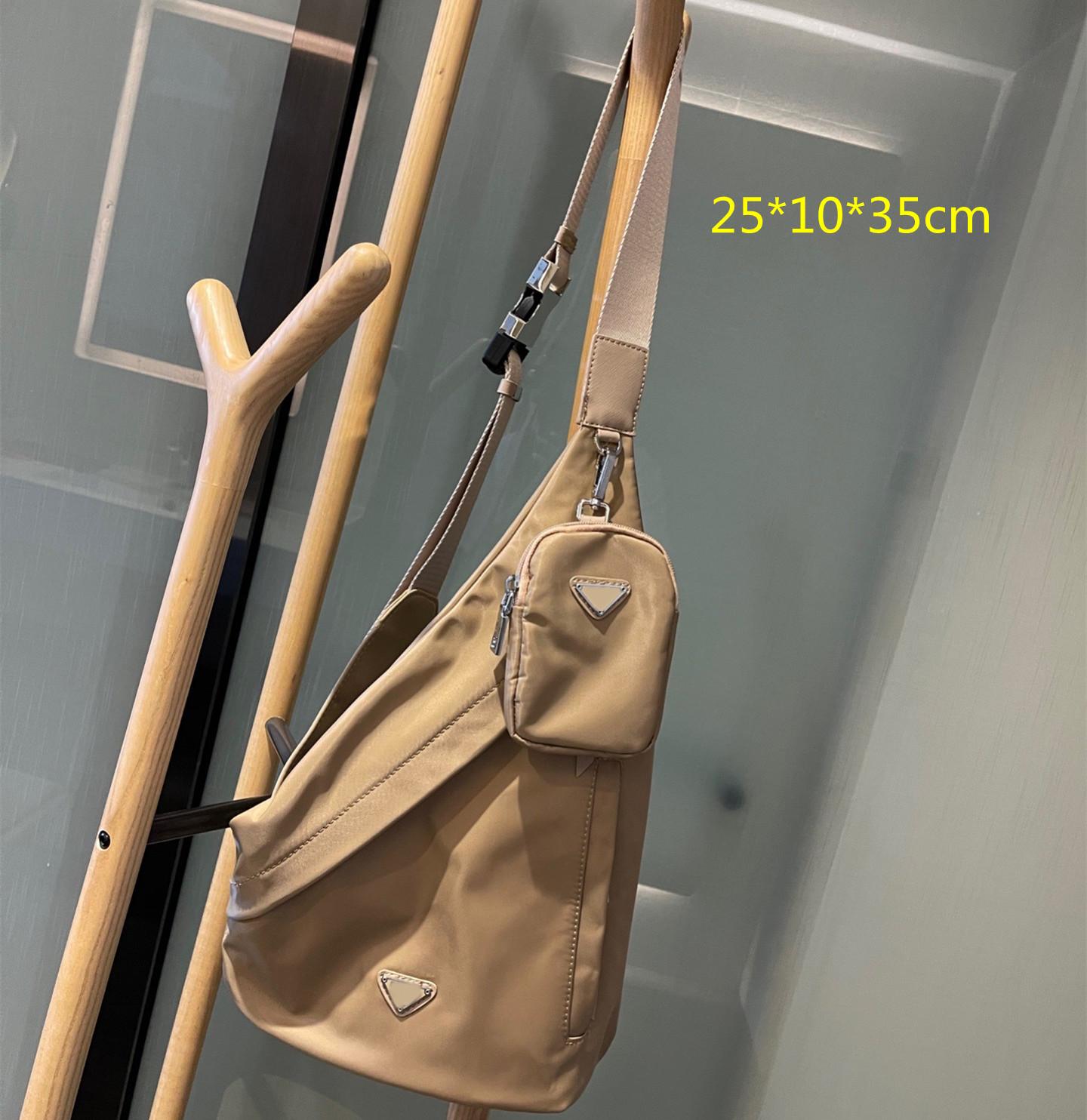 2021 2-pic Men Women Chest Bags Designer Shoulder Waist Bag Nylon Crossbody Medium Purses Cross Body Outdoor Packs high quality