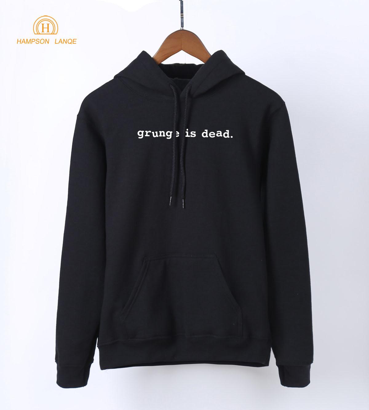 Grunge Is Dead Rock Band Punk Hoodies Women 2019 Spring Autumn Hip Hop Sweatshirt Women