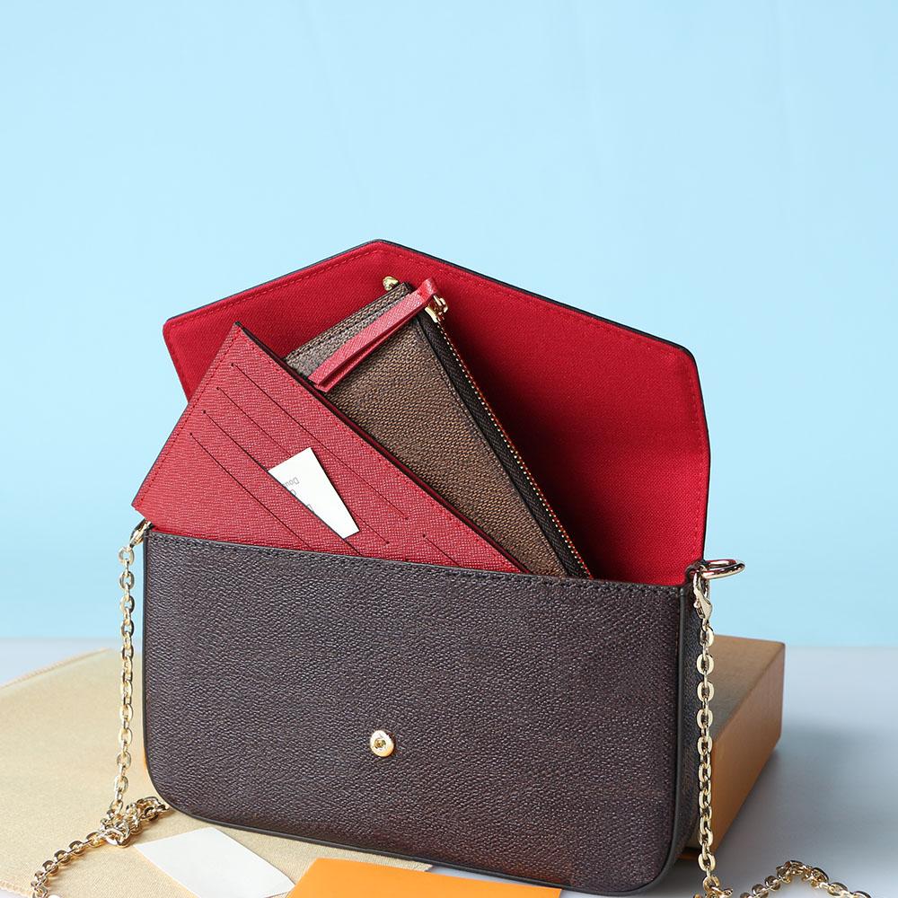 Newest Luxurys Designers Handbags Purses Bag Fashion Women Pochette Félicie Shoulder Bags High Quality Three-piece Combination Empreinte Bags 21*11*2 Cm 61276