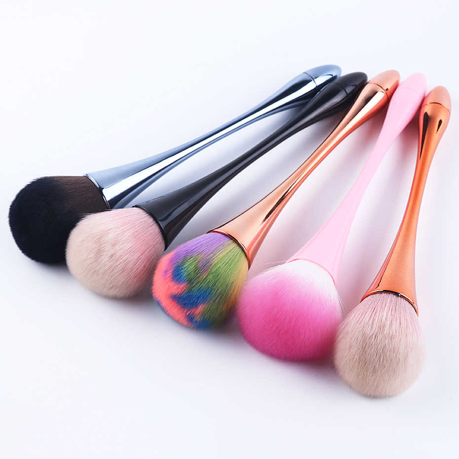1pcs Cleaning Nail Brush Rose Gold Soft Brushes Nail Glitter Powder Dust Remover Acrylic High Quality Manicure Makeup Tool LY949