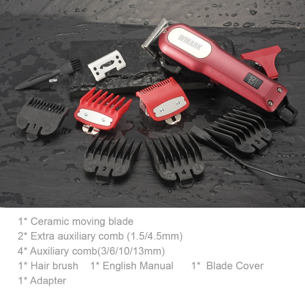 Cordless Rechargeable Hair Clippers Set Hair cutter LED display Professional Super Cutting Power (3)