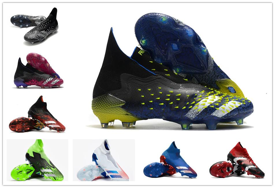 2021 PREDATOR FREAK + FG PP Mens Boys Soccer Shoes 20+ Mutator Football Cleats 21+x Boots High Ankle Size 39-45