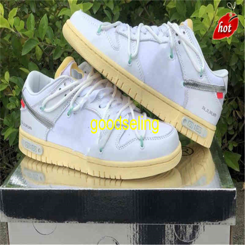 Shoes Off Authentic Dunk Sb 01 of the 50 Collection Sail White Black 20 Low Men Women Sports Sneakers Footwear