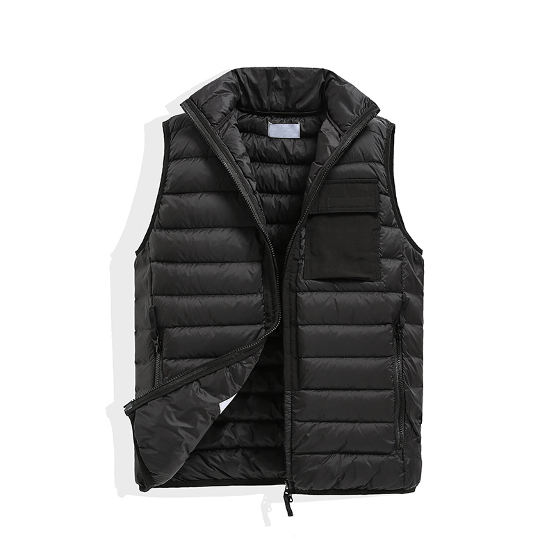 Vests Mens and women's No hat Sleeveless Jacket Cotton-Padded Autumn Winter Casual Coats Male Waistcoat bodywarmer down vest