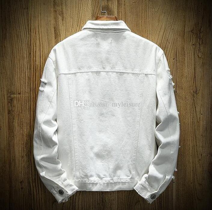 Luxury Mens Designer Jacket Men Women High Quality Ripped Holes Denim Jacket Mens Cowboy Coat women tops Black red Jean Jackets Size M-5XL