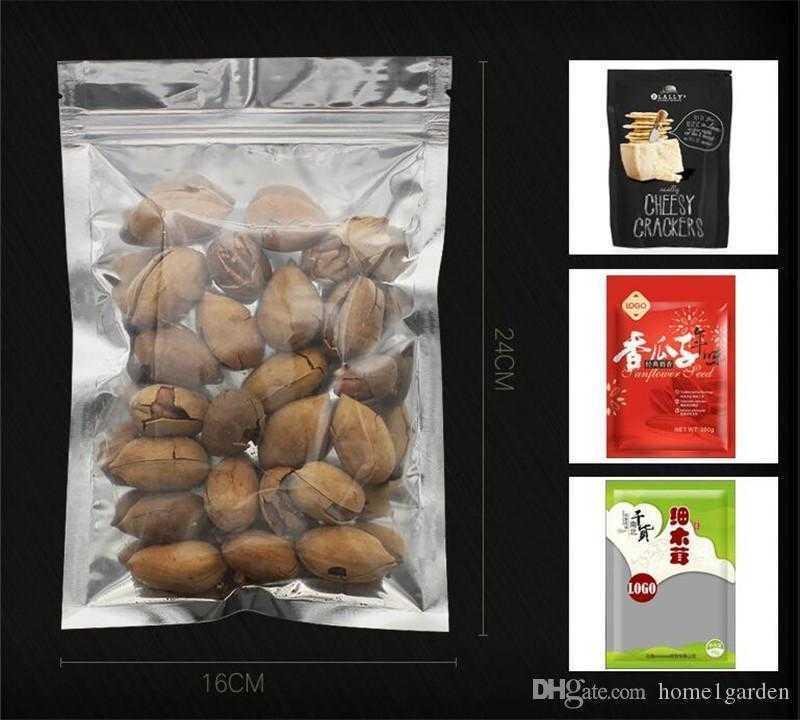 Aluminum Foil Resealable Valve Zipper Plastic Retail Packaging Mylar Bag Zip Lock Food Storage Pouches Ziplock Mylar Foil Bag