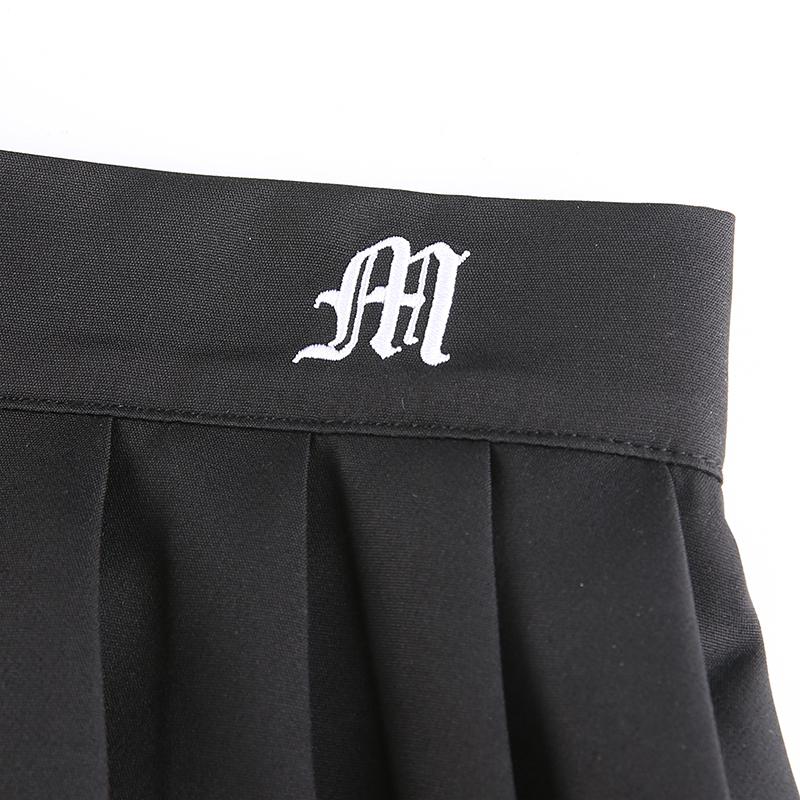 Black Embroidery Skirt (8)