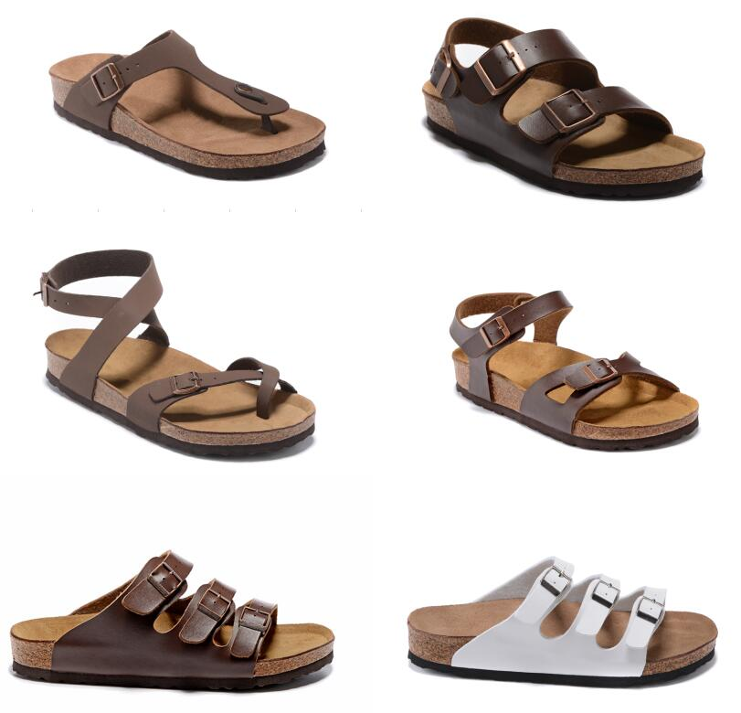 Mayari Arizona Gizeh 2021 summer Men Women flats sandals Cork slippers unisex Health shoes classic colors Black white Fashion Flats 34-46