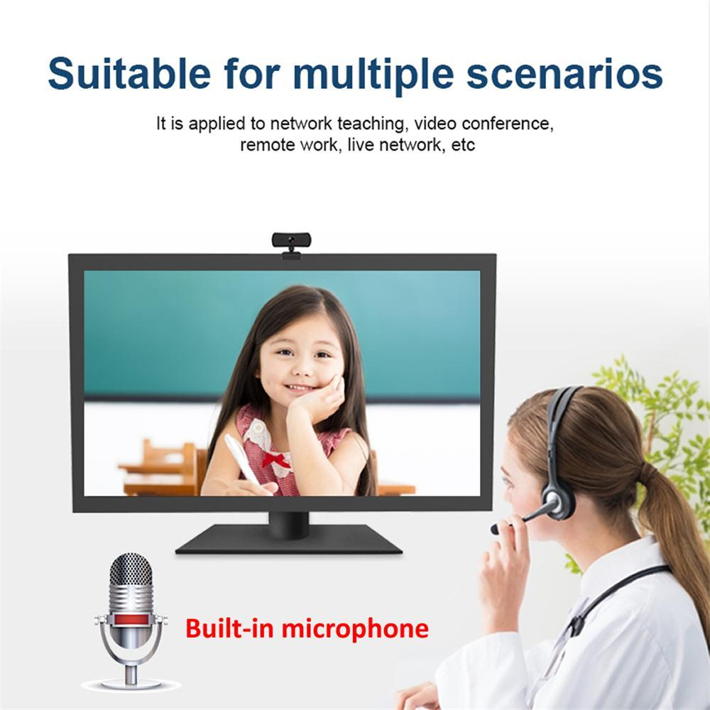 400W HD Pixel 2K USB Webcam Computer PC Web Camera With Microphone for Desktop For Live Broadcast Video USB Webcam Video Recording Work
