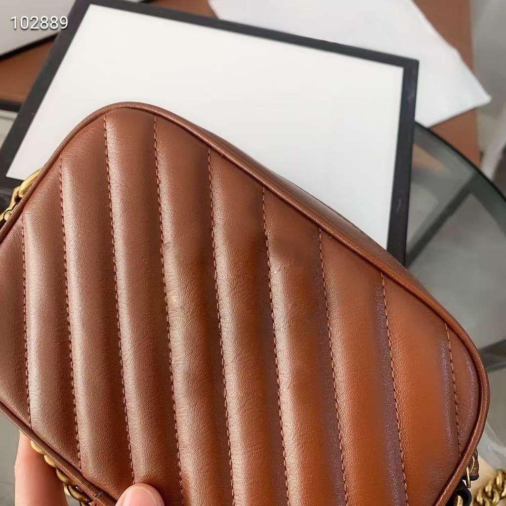 Small bag female 2020 new tide joker leather camera bags one shoulder inclined shoulder bag ling chain female bag