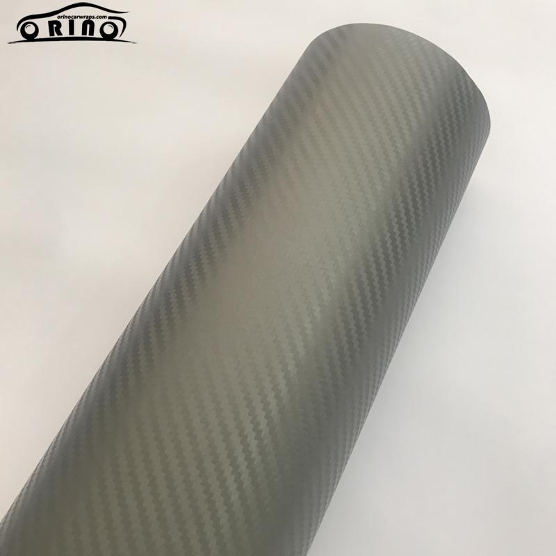 Grey 3D Carbon Fiber Vinyl Wrap Sticker-5