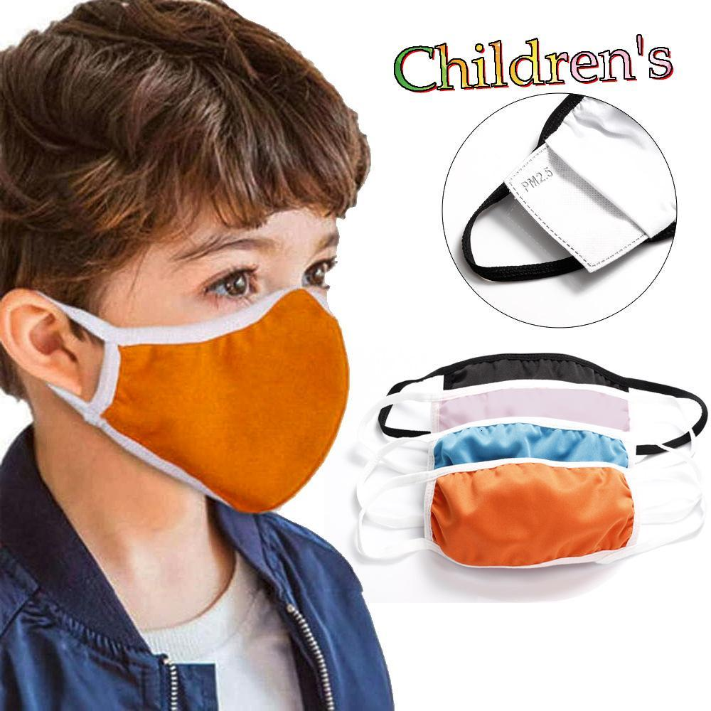 Designer face mask cover orange kid cotton masks child insert PM2.5 filter anti-smog dust-proof cross-border explosion fast DHL FREE SHIP