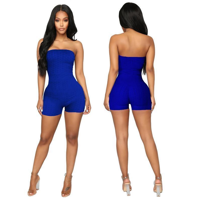 womens one piece shorts strapless overalls jumpsuits rompers slim bodycon playsuit fashion comfortable clubwear elegant jumpsuit klw0794