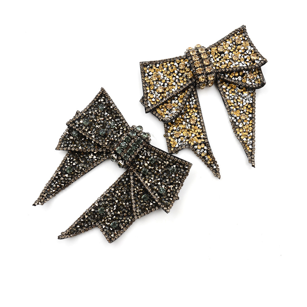 1PCS Beautiful Bow Shoe Decorations DIY Sandals High Heels Shoes Button Clip Manual Metal Decorations 10.9*11cm