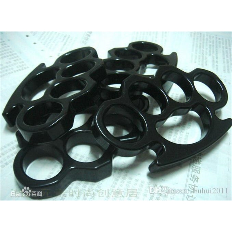 New Thin Steel Brass knuckle dusters Buckle Fighter Women Men Four Fingers Rings Bague Rings Jewelry