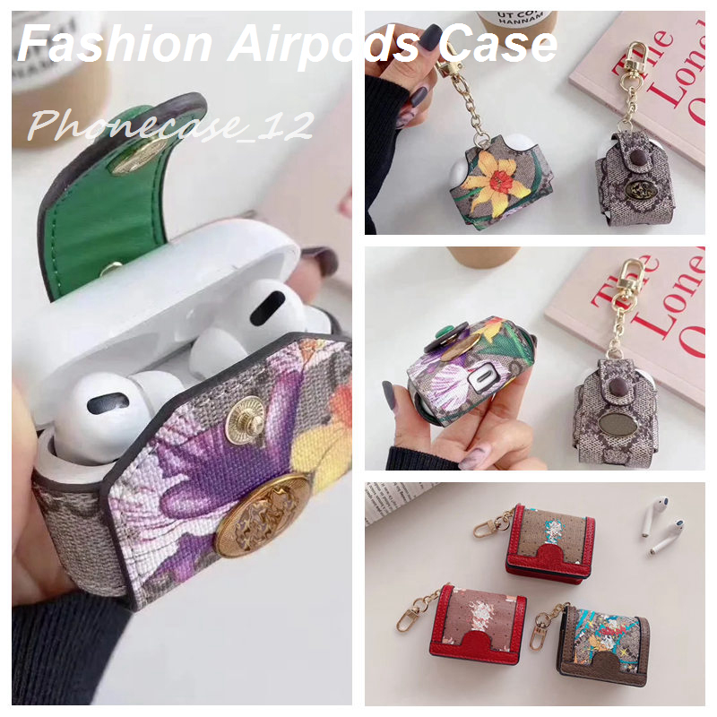 Fashion designer Airpod case for Airpods 1 2 pro 3 Cover bag cases with Anti Lost Hook Clasp Keychain 2333