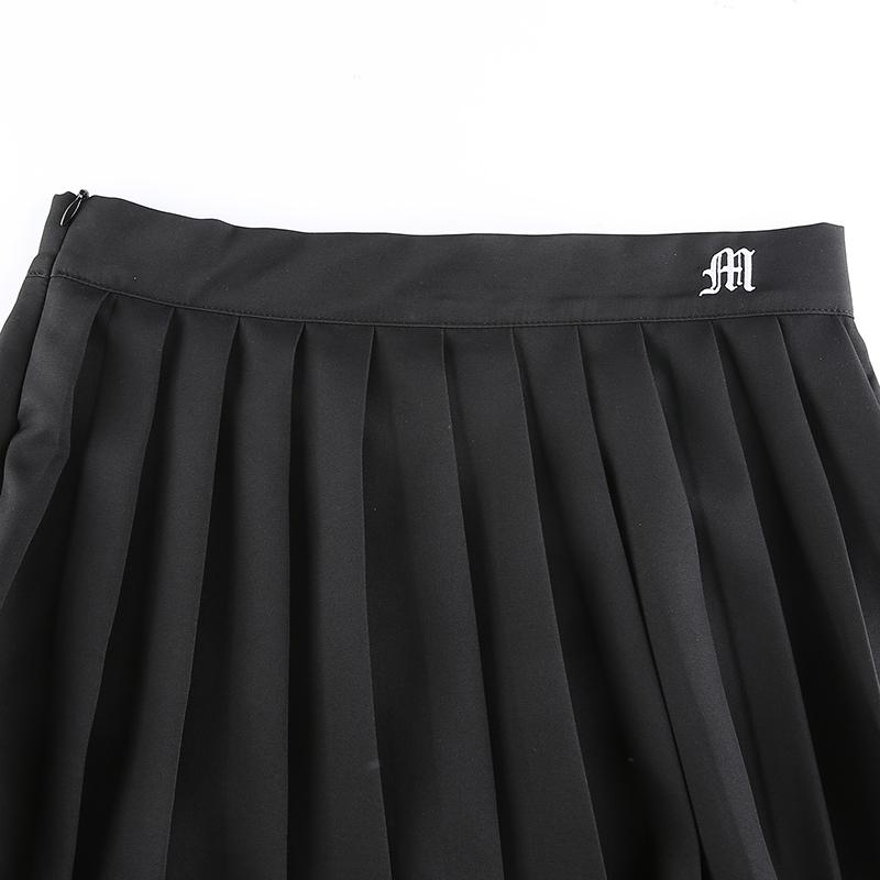 Black Embroidery Skirt (7)