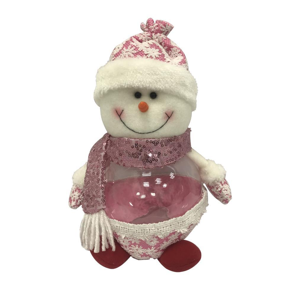 Anjule Christmas children gift candy jar flashing lights santa snowman elk ornaments