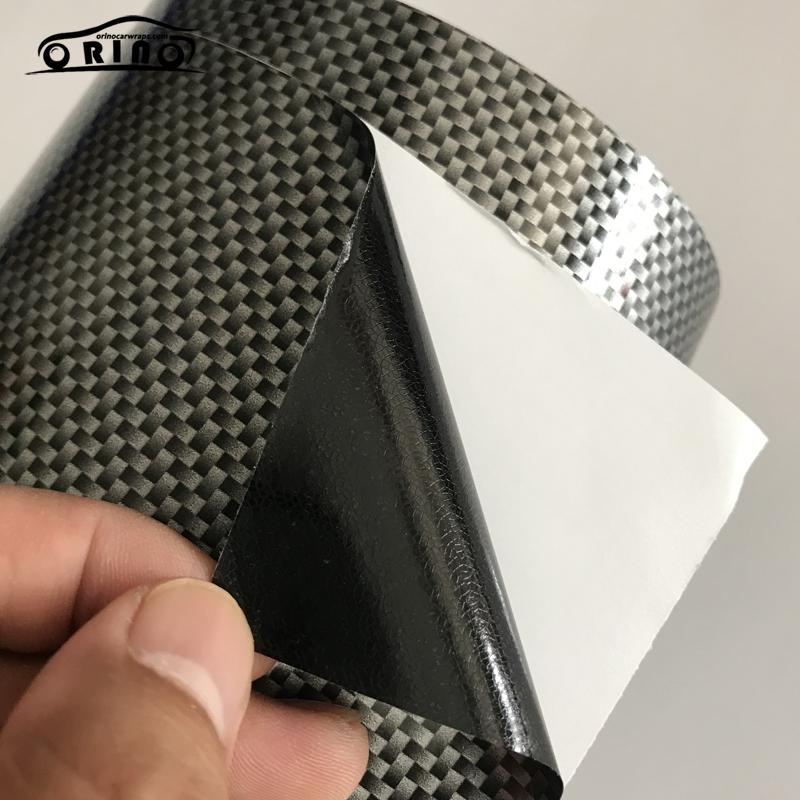 2D Square Silver Carbon Fiber Vinyl Film Wrap-6