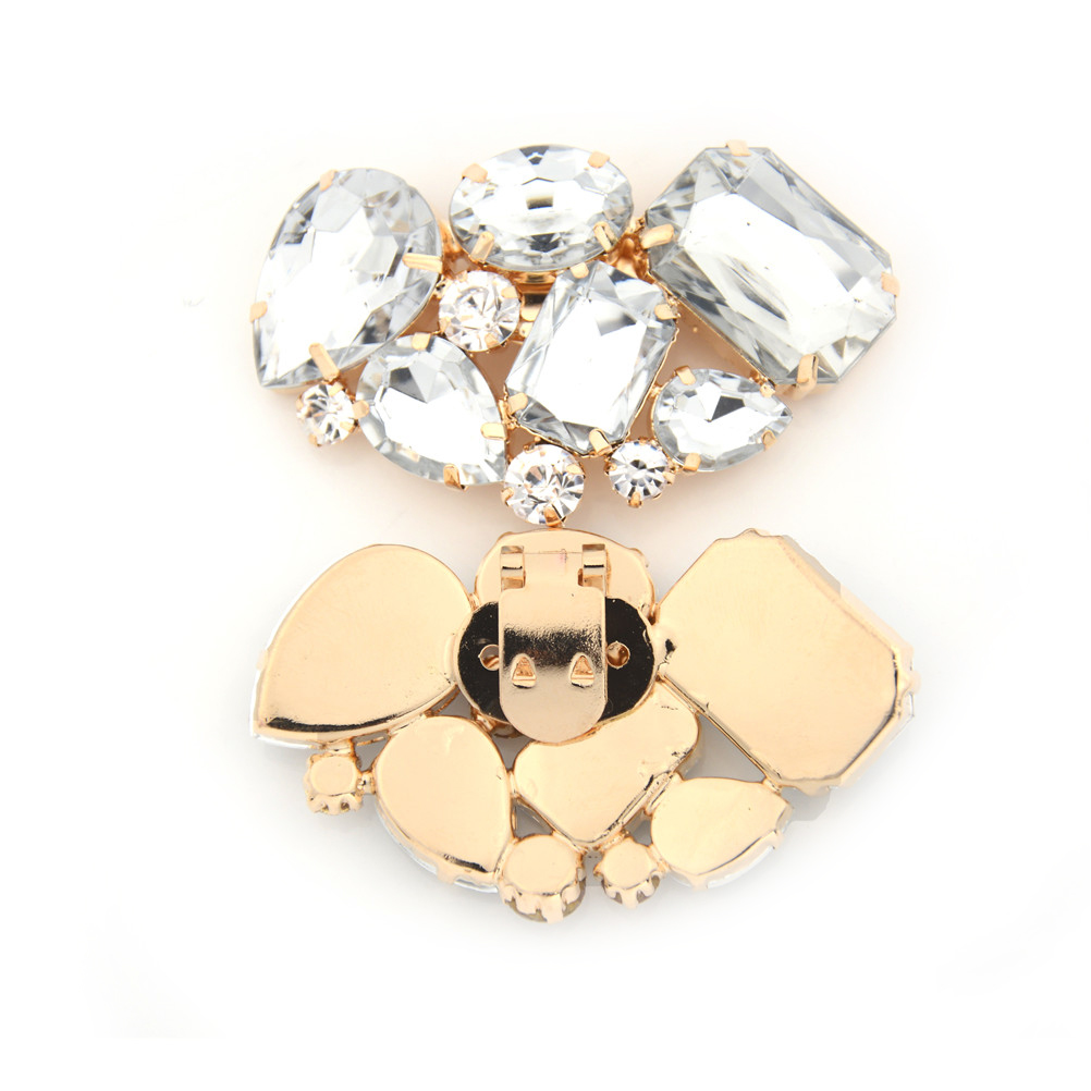 1pcs high-heel shoes clips Shoe accessories bridal wedding shoe clip metal material crystal rhinestone charm decoration