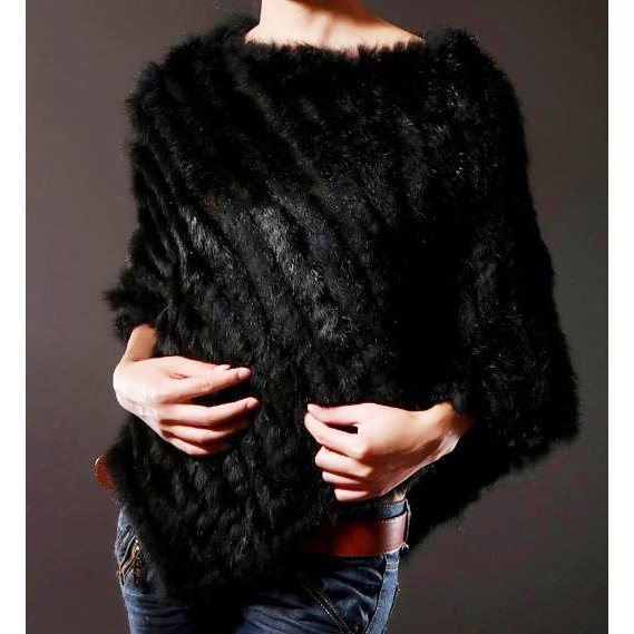 Pink Java PROMOTION ON SALE Rabbit Fur Shawl Wome...
