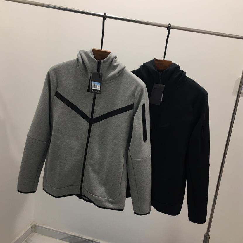 European American style men's sports hooded jacket TECH FLEECE casual hooded knitted jacket men's full-length zipper cardigan hoodie CU4490