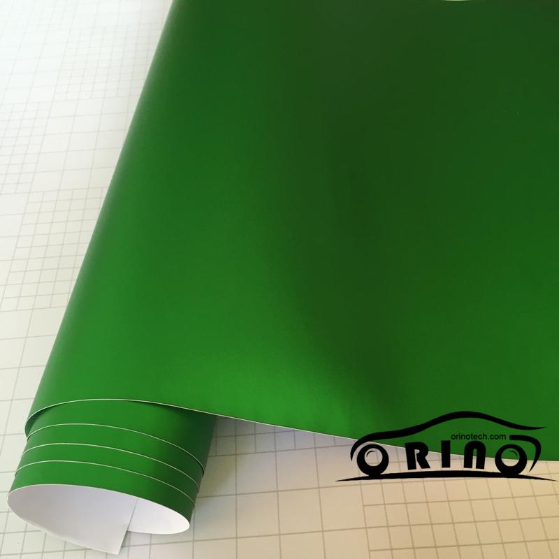 Chrome Metallic Apple Green Vinyl Wrap-3
