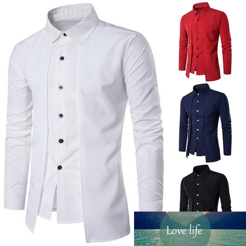 Oeak Spring Men Social Shirt Long Sleeve Vintage Solid Two Pieces Shirt Bussiness Mens Dress Shirts Causal Slim Shirt