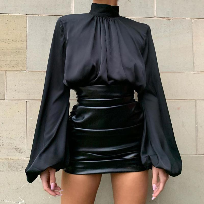 PU Pleated Panelled Designer Skirts Natural Color Fashion A Line Skirts Casual Above Knee Skirts Women Clothes