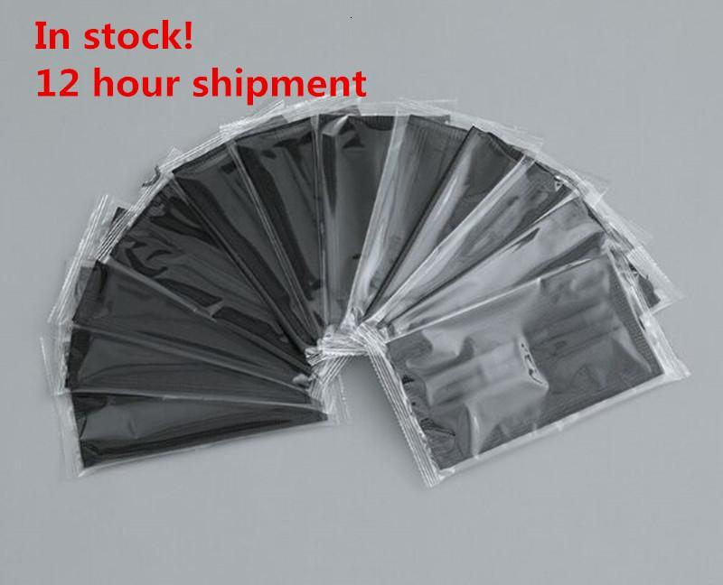 top quality individual Package Disposable Mask Black Non Woven Face Mask 3 Layer Dust-proof haze-proof breathable Masks free ship
